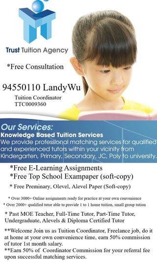 Tutor Tuition Assignments Tuition Coordinator