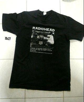 Radiohead band tshirt