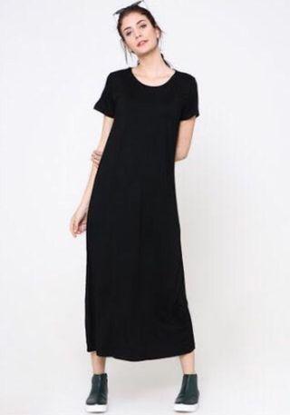 Basic Black Long dress #ramadansale