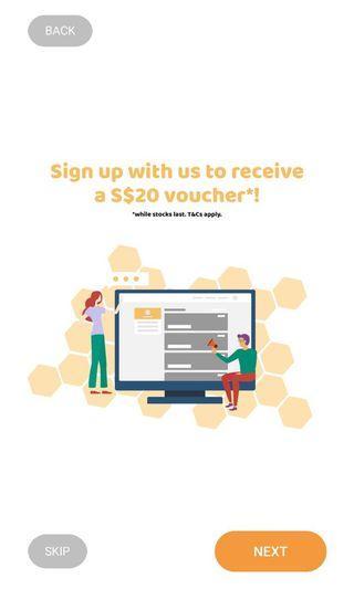 Free $20 voucher