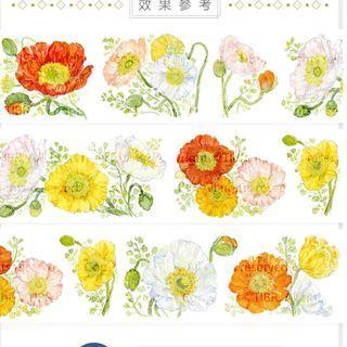 基研所 虞美人 三月裡的某一天 櫻繁 繡球花  紙膠帶分裝