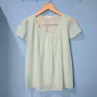 polka blouse top HARGA PAS NETT