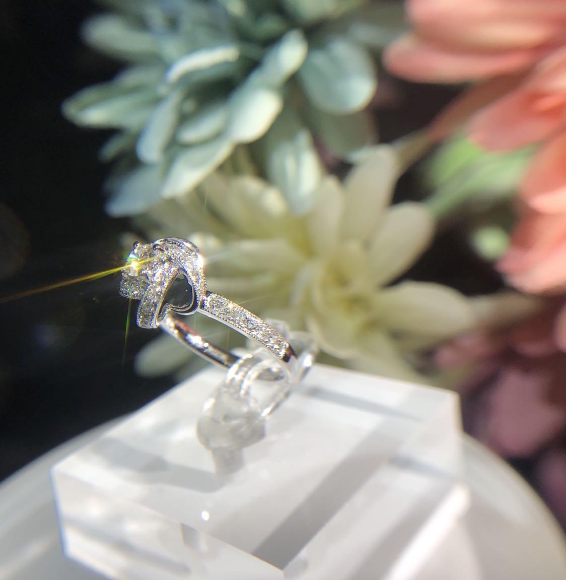 新款 風車天然鑽石戒指💍