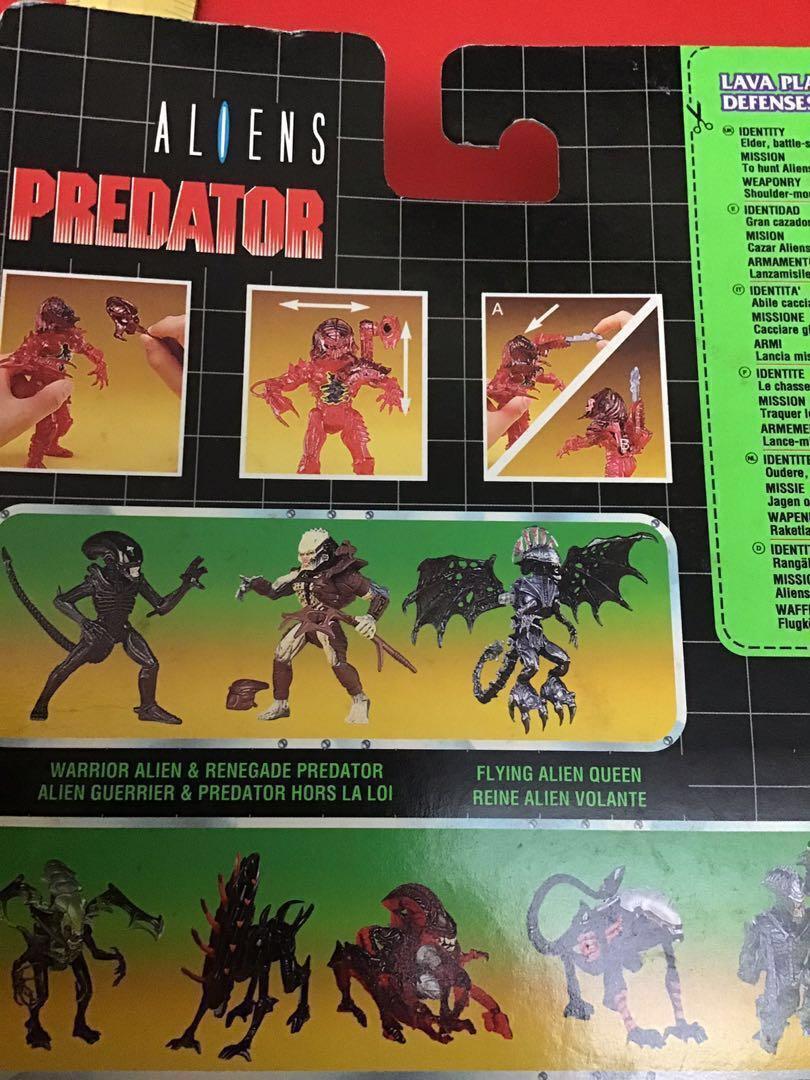 Alien Predator Lava Planet 鐡血戰士、異形、異獸 1994 絕版 Kenner