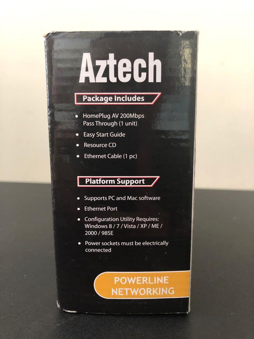 Aztech Homeplug AV 200 (1 Pair)