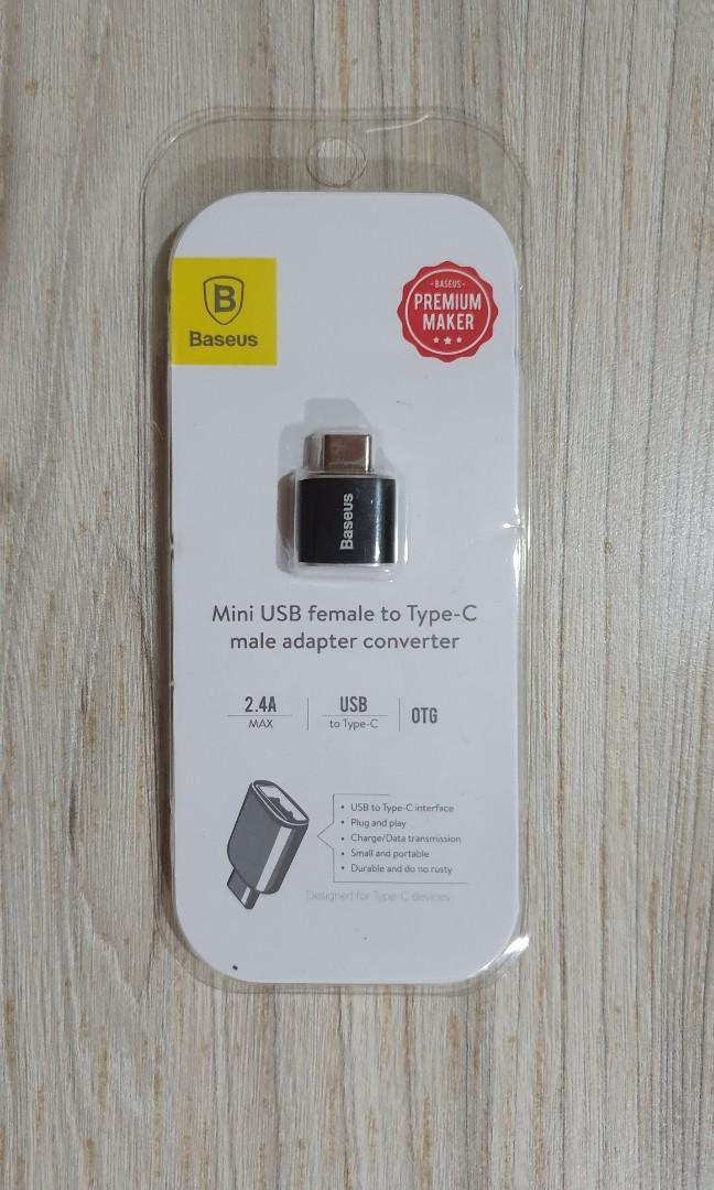 Baseus USB Female to USB Type C OTG Adapter