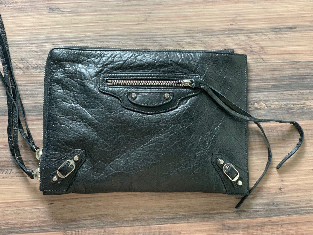BN Balenciaga City Clutch with Silver Hardware