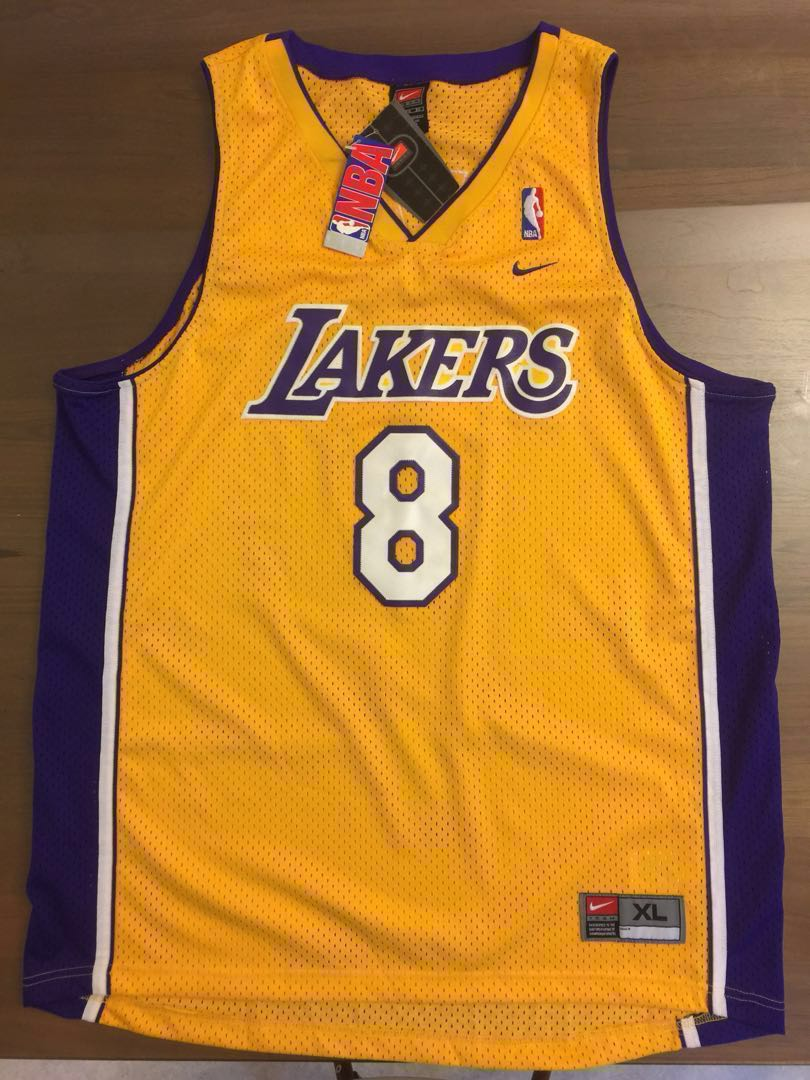 4ef27421dad BN VINTAGE AUTHENTIC GOLD LA LAKERS KOBE BRYANT #8 JERSEY, Sports ...