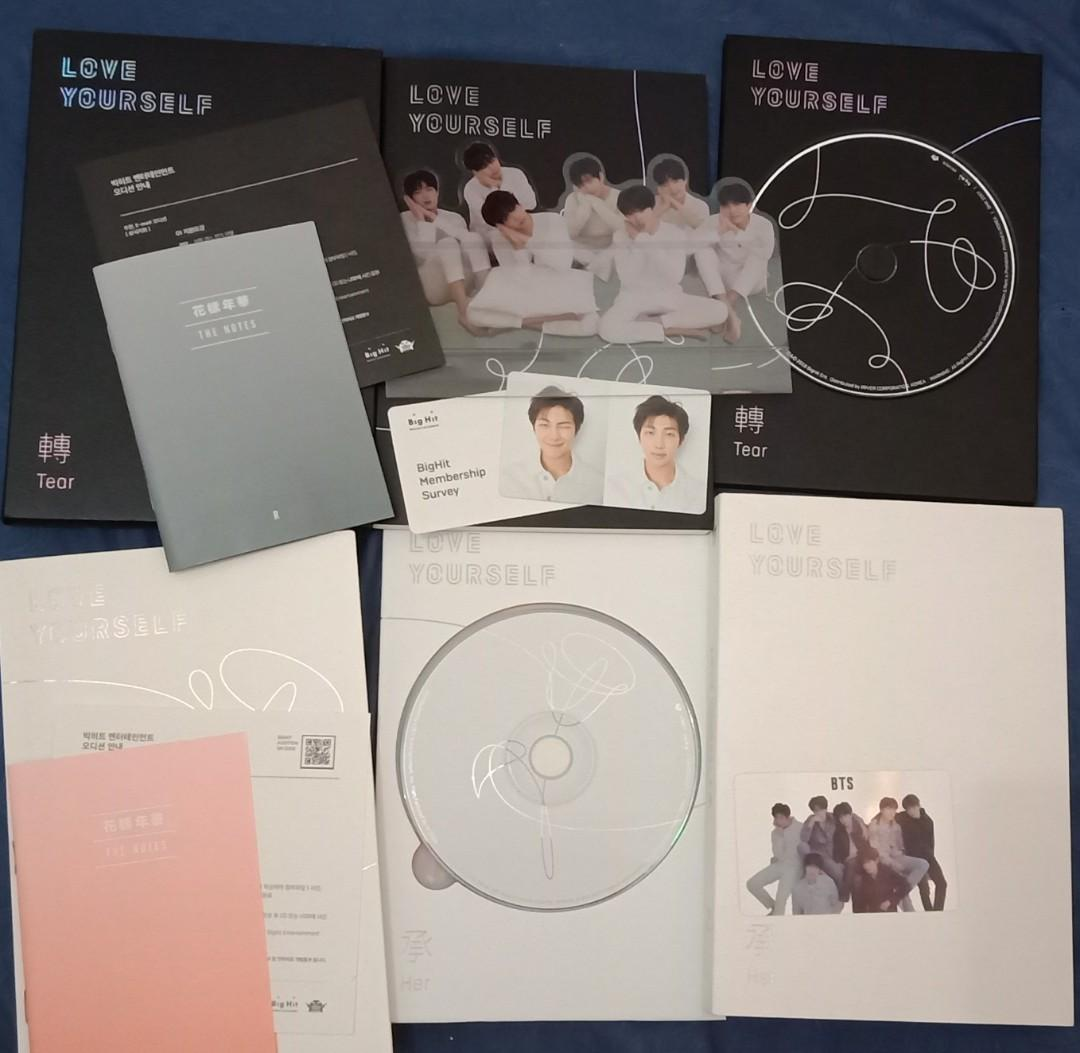 BTS LOVE YOURSELF ALBUMS (2)