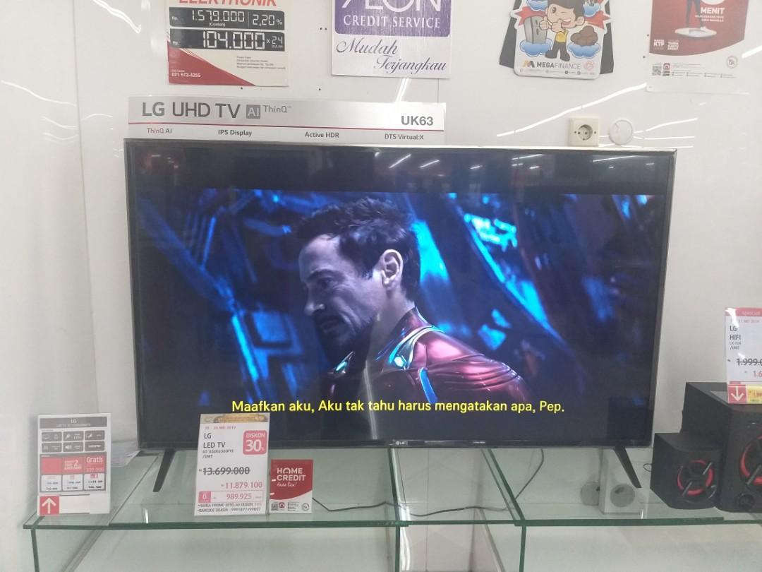 Bunga 0% cuma Bayar DP 1,400,000 LG LED SMART TV 65 INCH