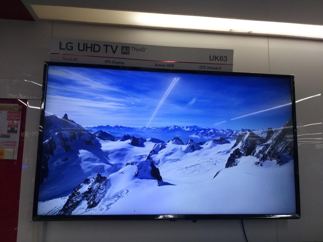 Bunga 0% Cuma Bayar DP 720,000 LG LED SMART TV 43 INCH Free Speaker HIFI