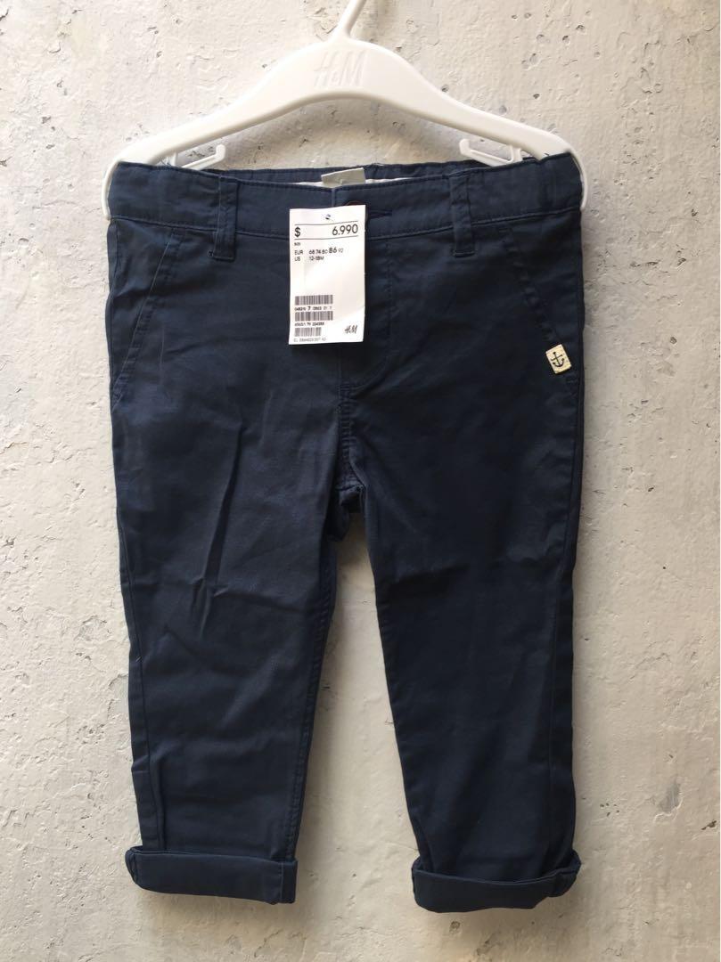 Celana Chino H&M Navy blue