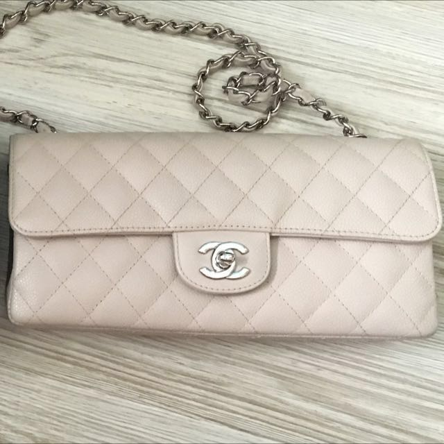 cd78160f6d6c6d Chanel East West Flap (Pearly White / Cream) in Caviar Leather ...