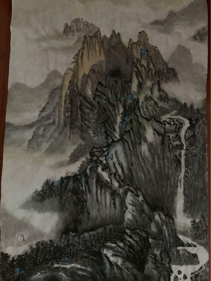 Chinese water colour painting 中國水墨畫