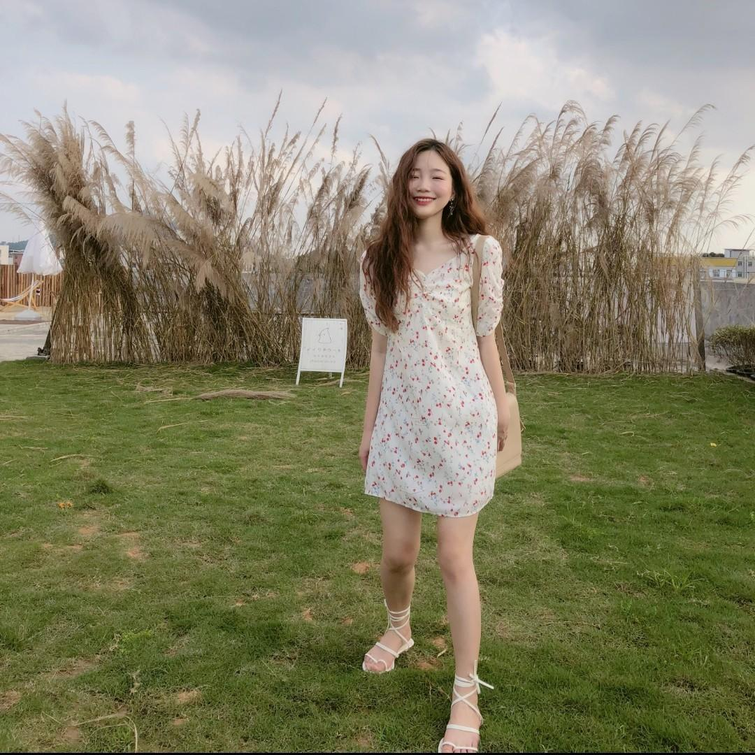 Danica Floral White Dress