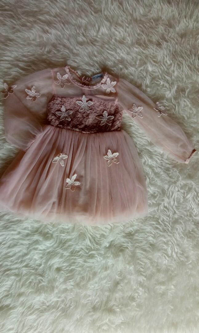 Mauthr Dress Baby Baju Pesta Anak Perempuan Gamis Muslim Bayi Anak Baju Bayi Di Carousell