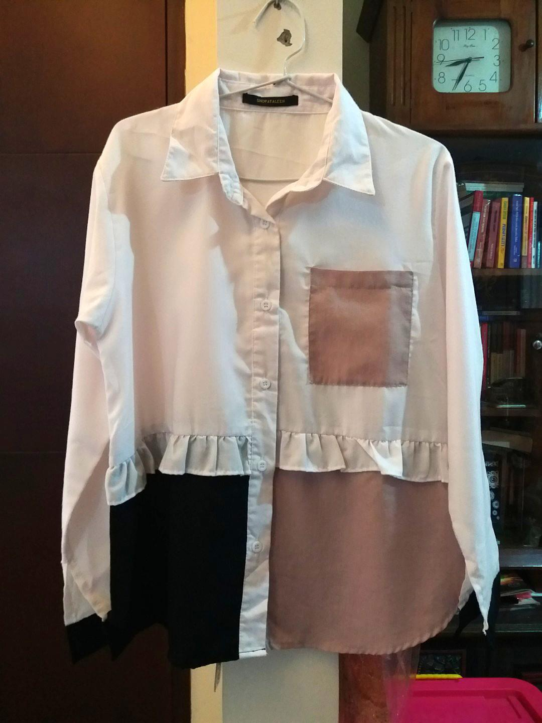 Dusty pink rimple blouse