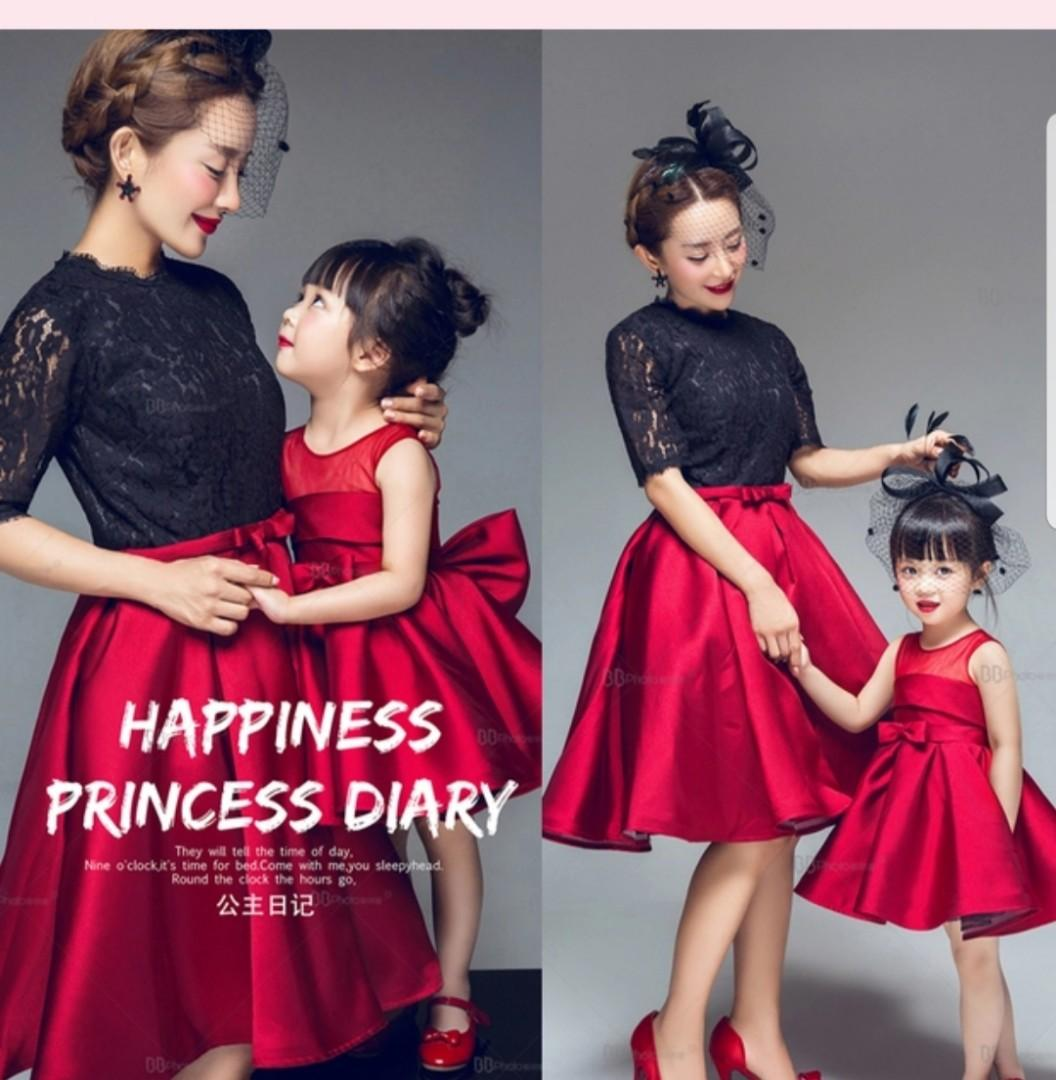 Evening gown- mother and daughter set