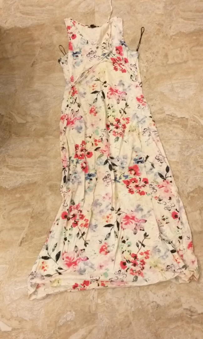 flowery long dress #ramadansale