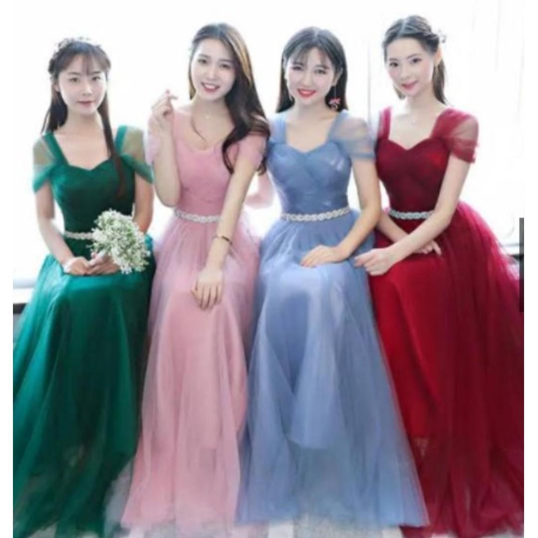 gaun bridesmaid - dress bridesmaid - dress pengapit - among tamu - jaga angpao - dress pesta mc singer