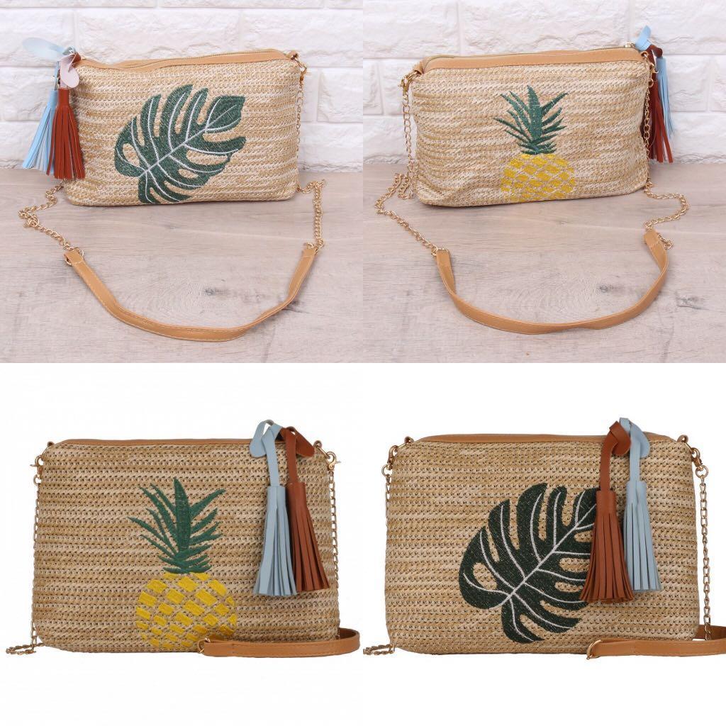 HOT Tas Selempang Embroidery Rattan Sling Bag Fashion Wanita Impor 3487