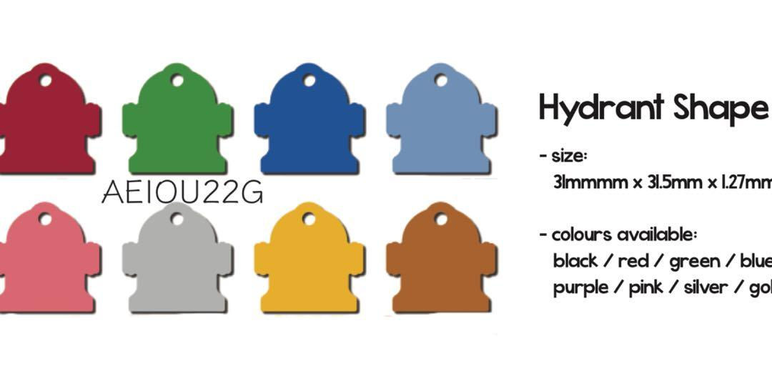 Hydrant Shape Pet Dog Tag (price for Item D only)