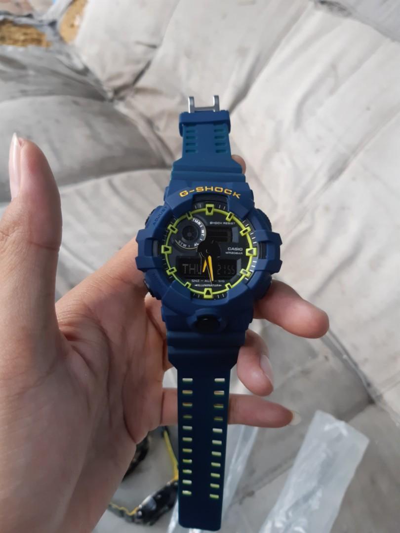 jam g-shock Ga-700 yelloy blue HR