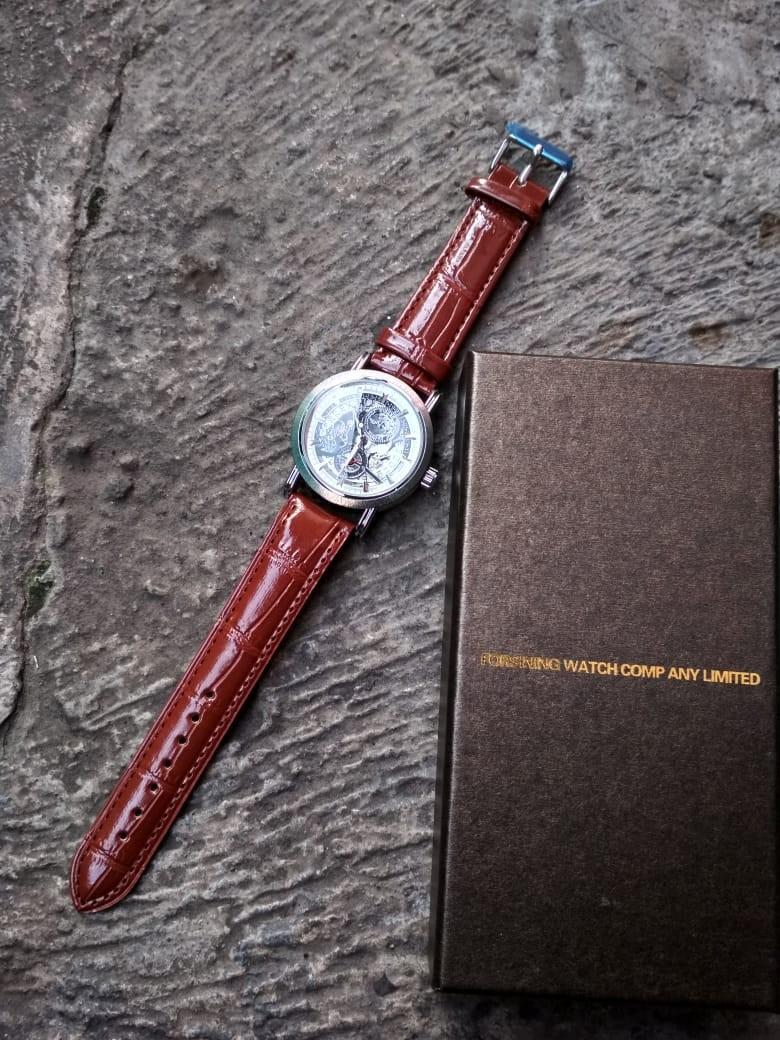 Jam tangan automatic exclusive leather