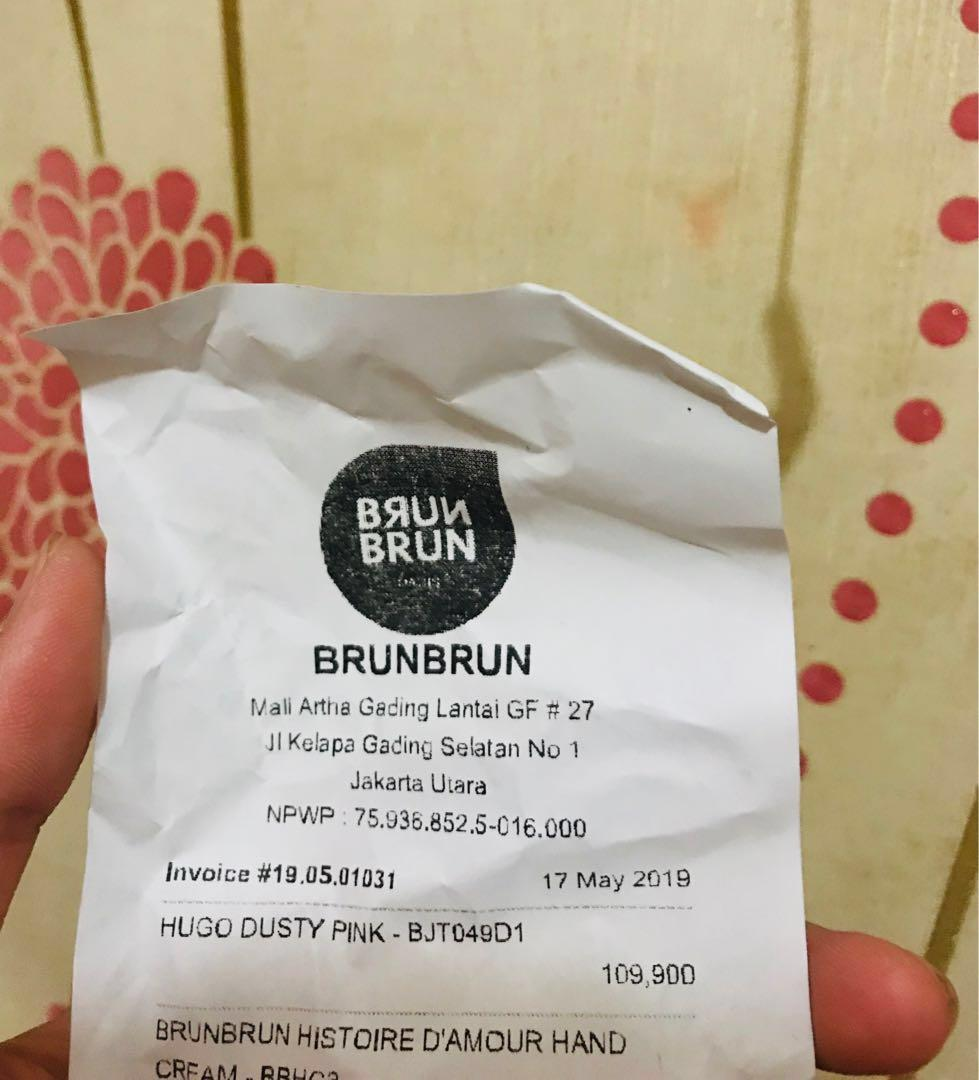 Jam tangan Brun-Brun (warna pink)