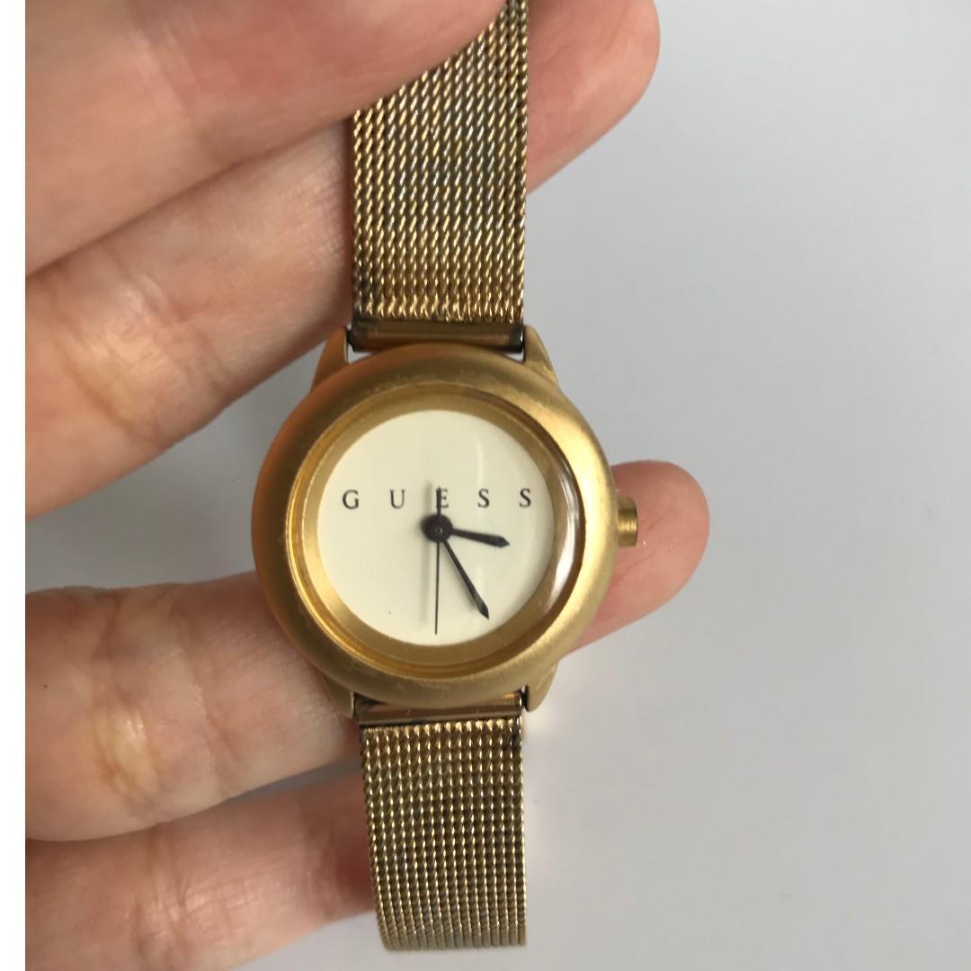 Jam Tangan Ori Authentic Wanita Guess Collection Woman Watch Metal Strap Gold Emas