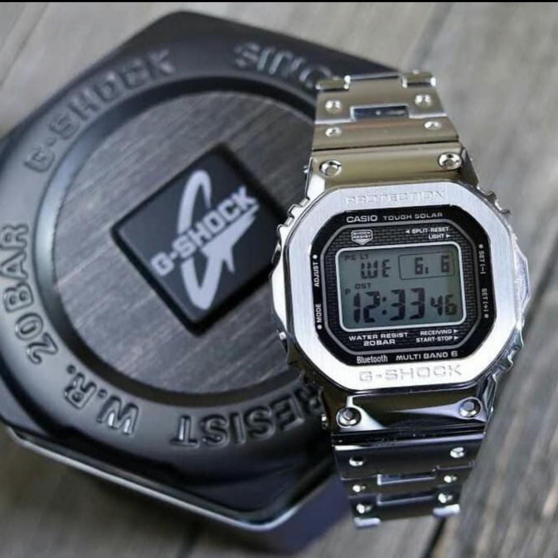 Jam Tangan priaJam G-shock GMWB-5000 full metal Silver special Anniversary g shock
