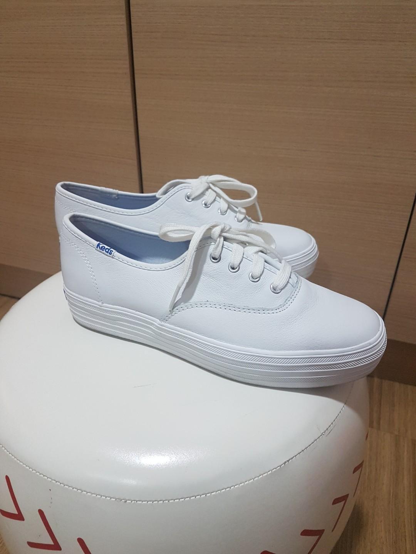 Keds Triple Leather White Ortholite