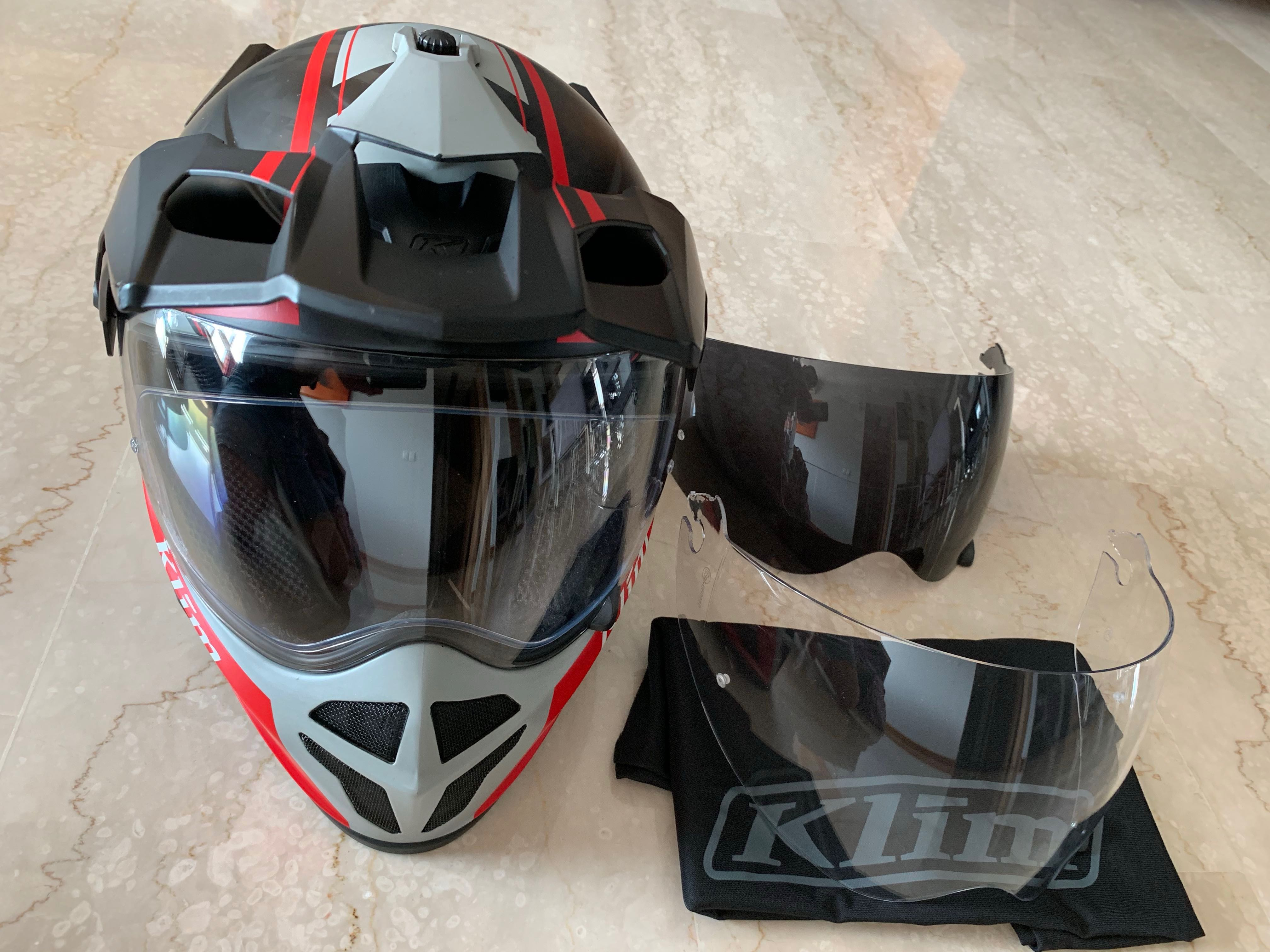 71a662d3 Klim Krios Vanquish Red with transition visor (M size), Motorbikes,  Motorbike Apparel on Carousell
