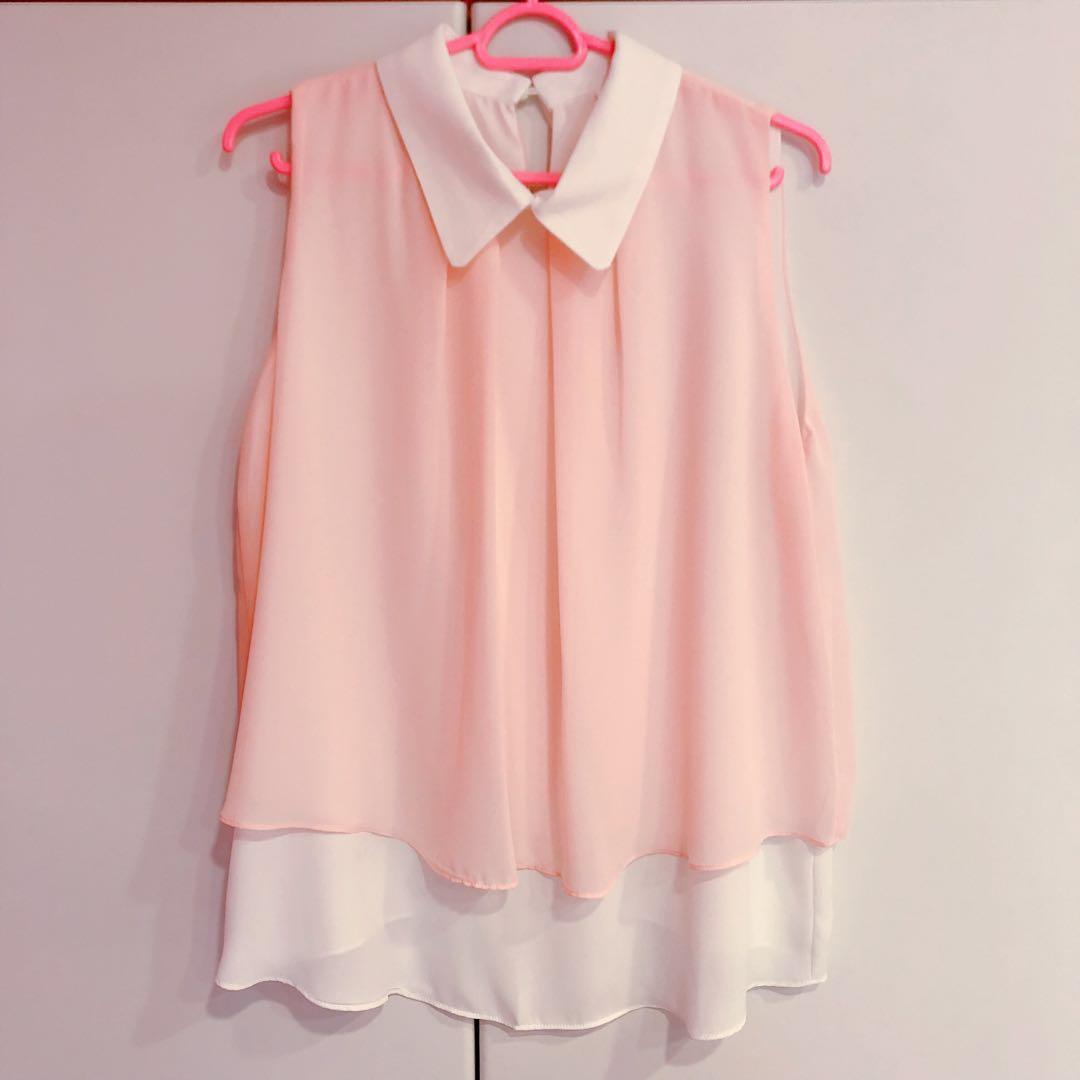 53b221a51c9 korean pink chiffon blouse
