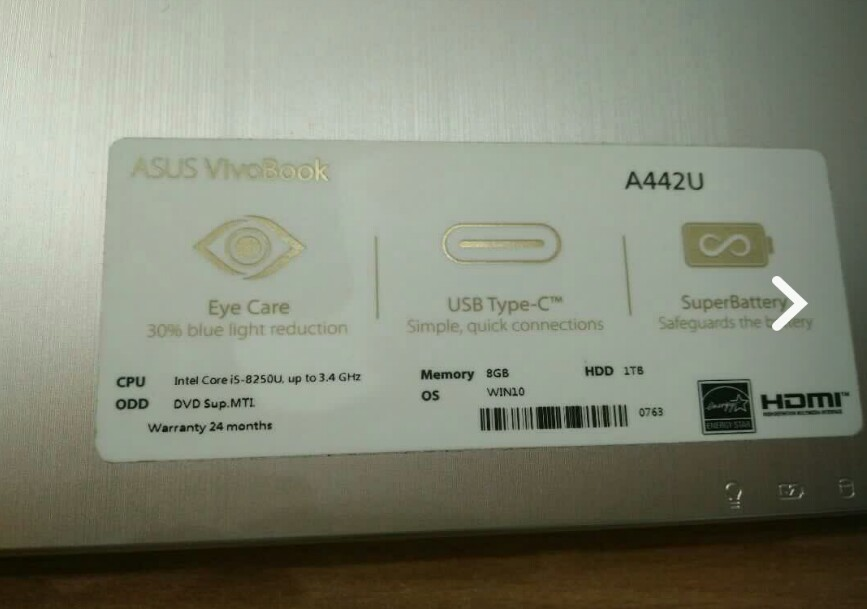 Laptop asus i5 ram 8gb vga 2gb