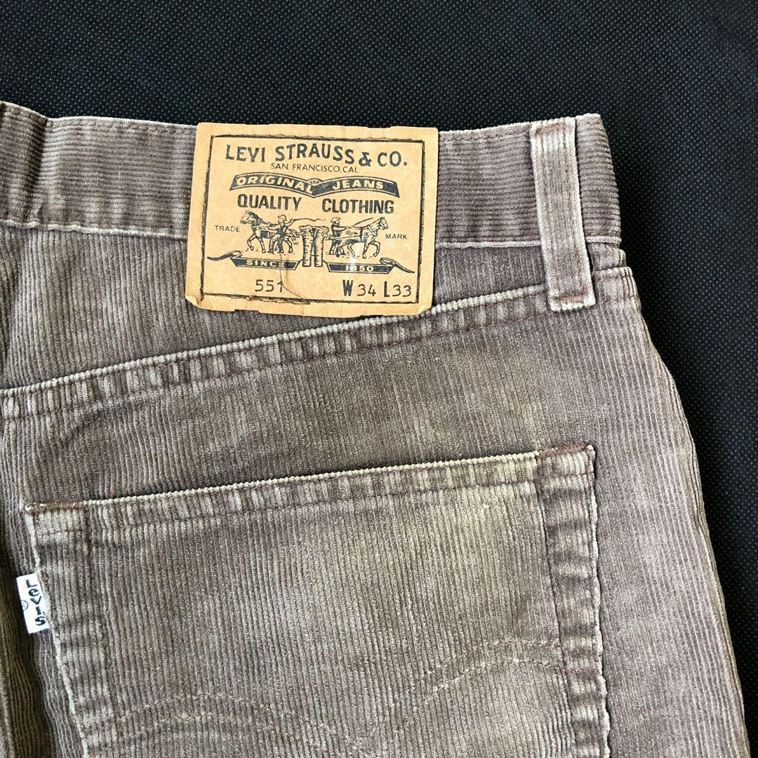 Levi's Cordurory Straight Cut Chinos Jeans Pants