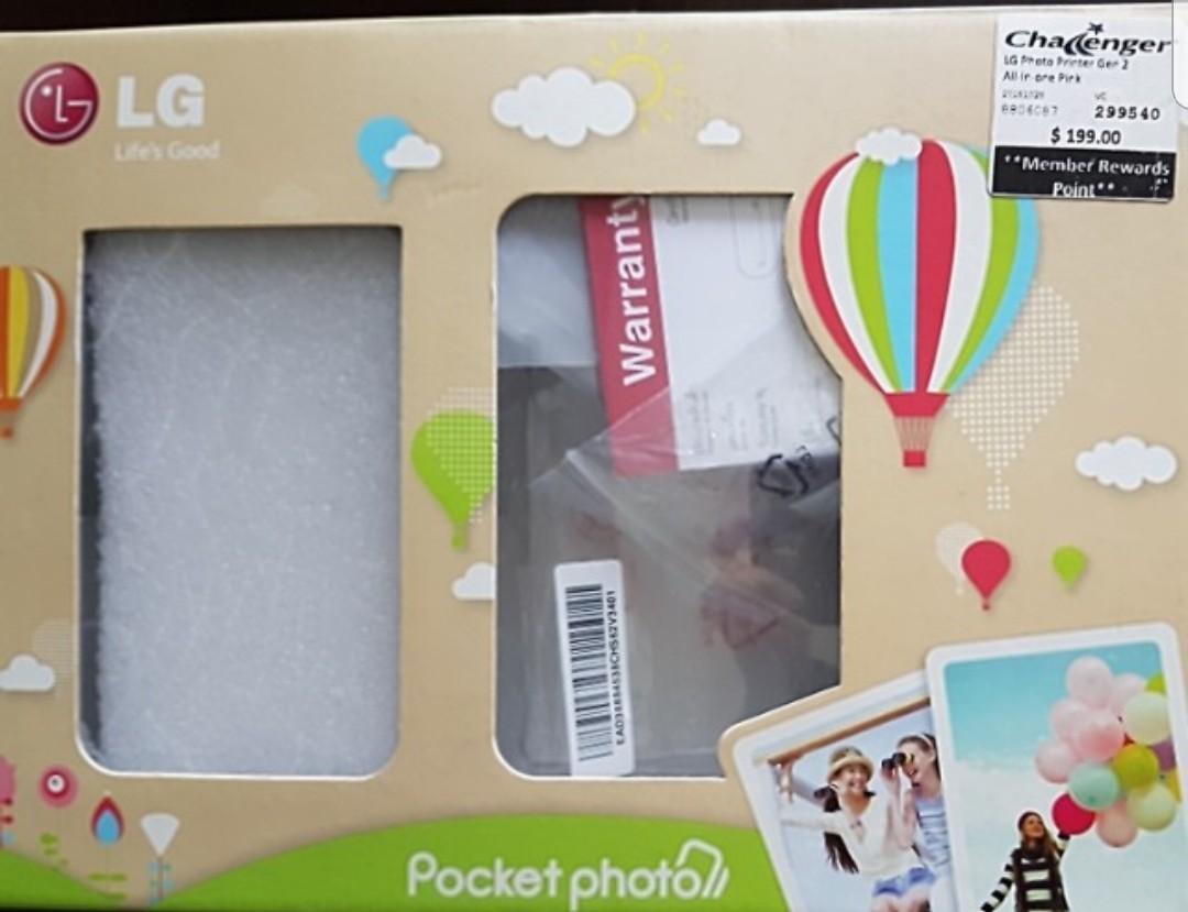 LG Pink Pocket Photo Printer