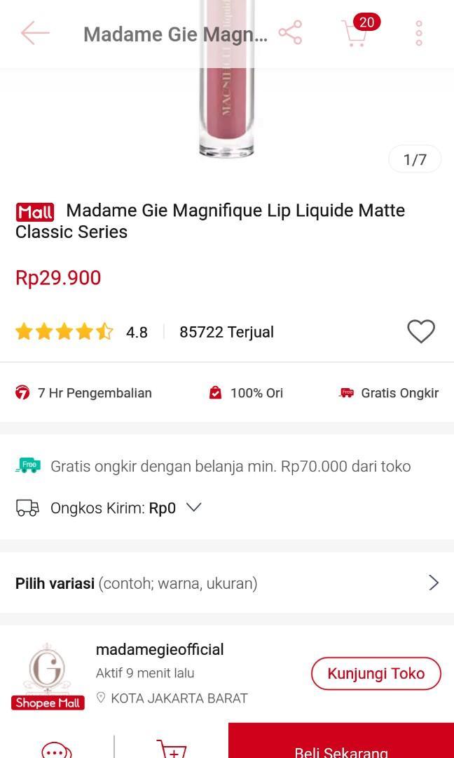 Lip cream Madame Gie (isi 2)