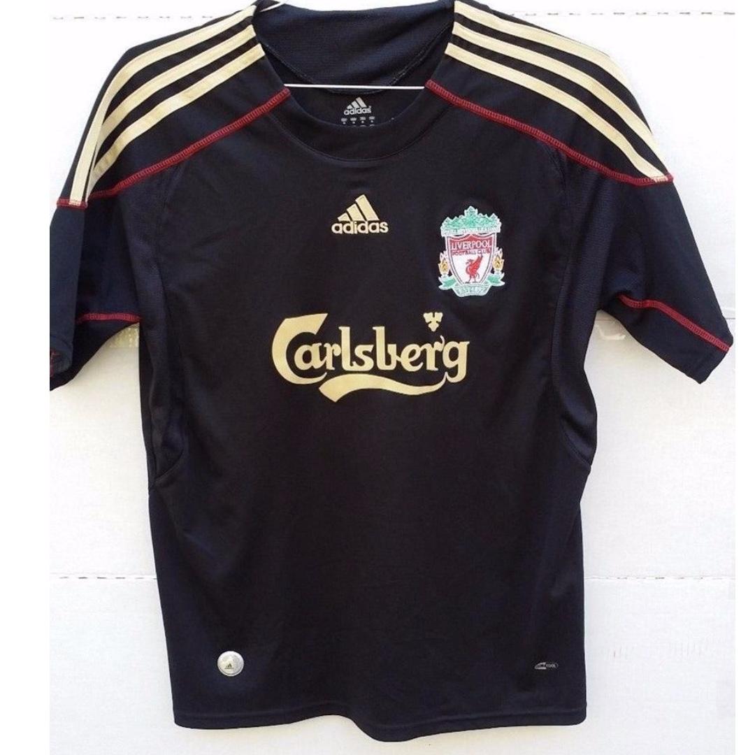 the latest bb99d 9552c Liverpool Adidas Black Jersey LFC Size XS