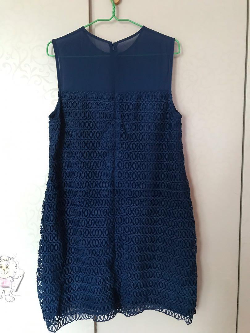 Love Bonito dress in navy blue