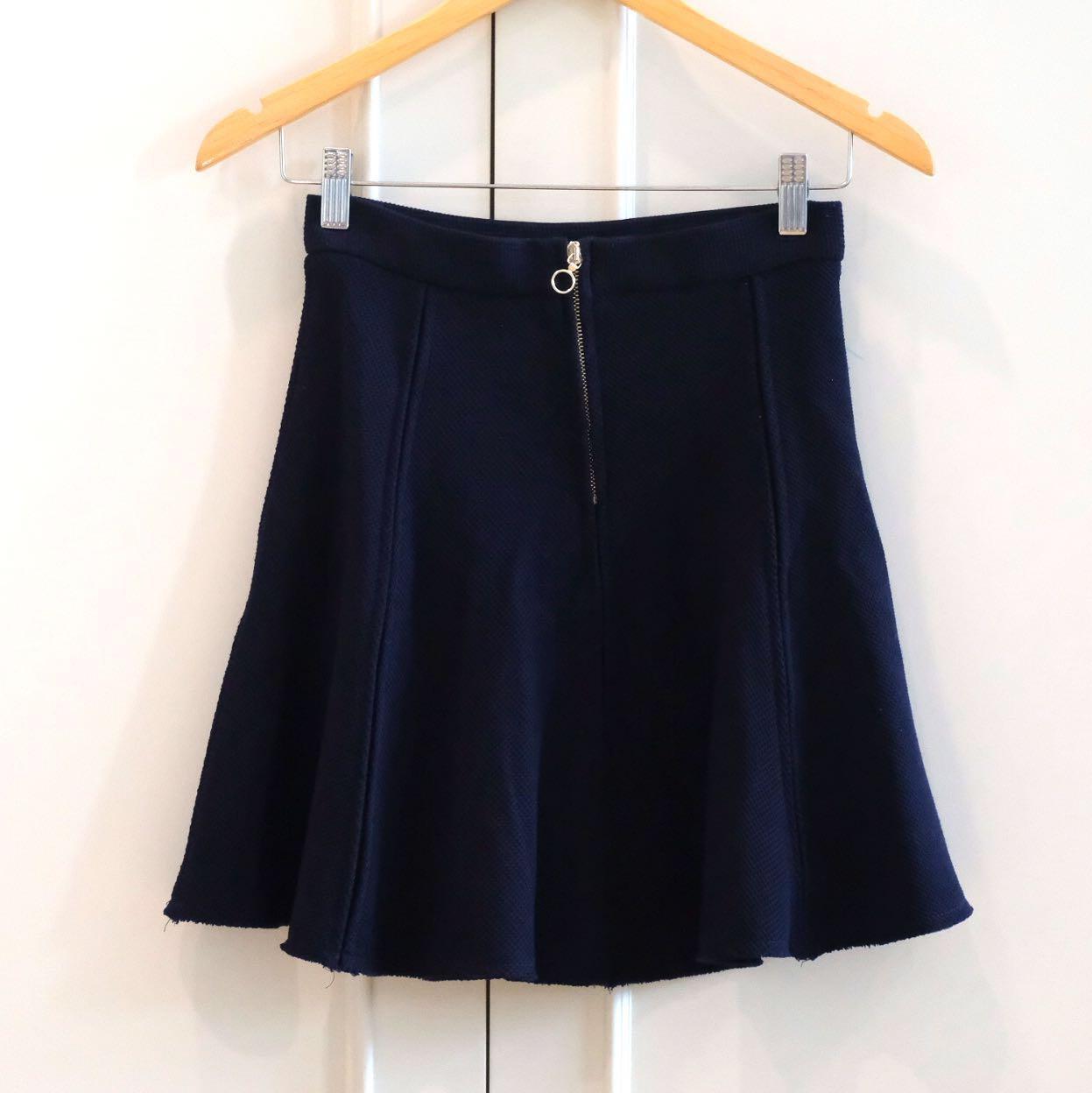 Navy Zara skirt high waist
