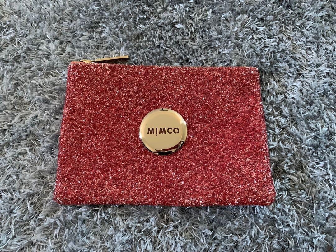 New medium mimco red sparkle pouch