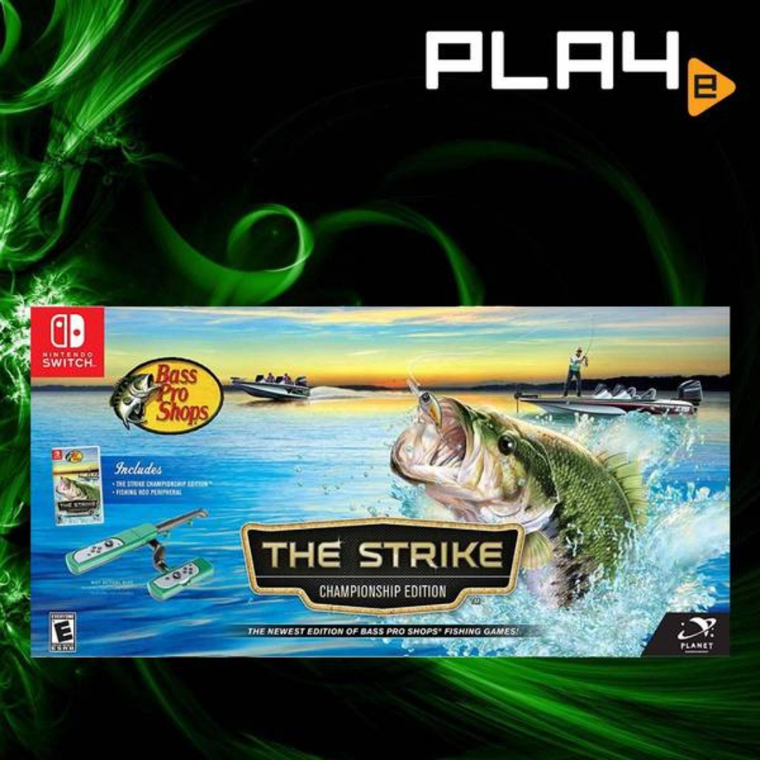 Nintendo Switch Bass Pro Shops: The Strike [Championship Edition] w Fishing  Rod Peripheral Brand New