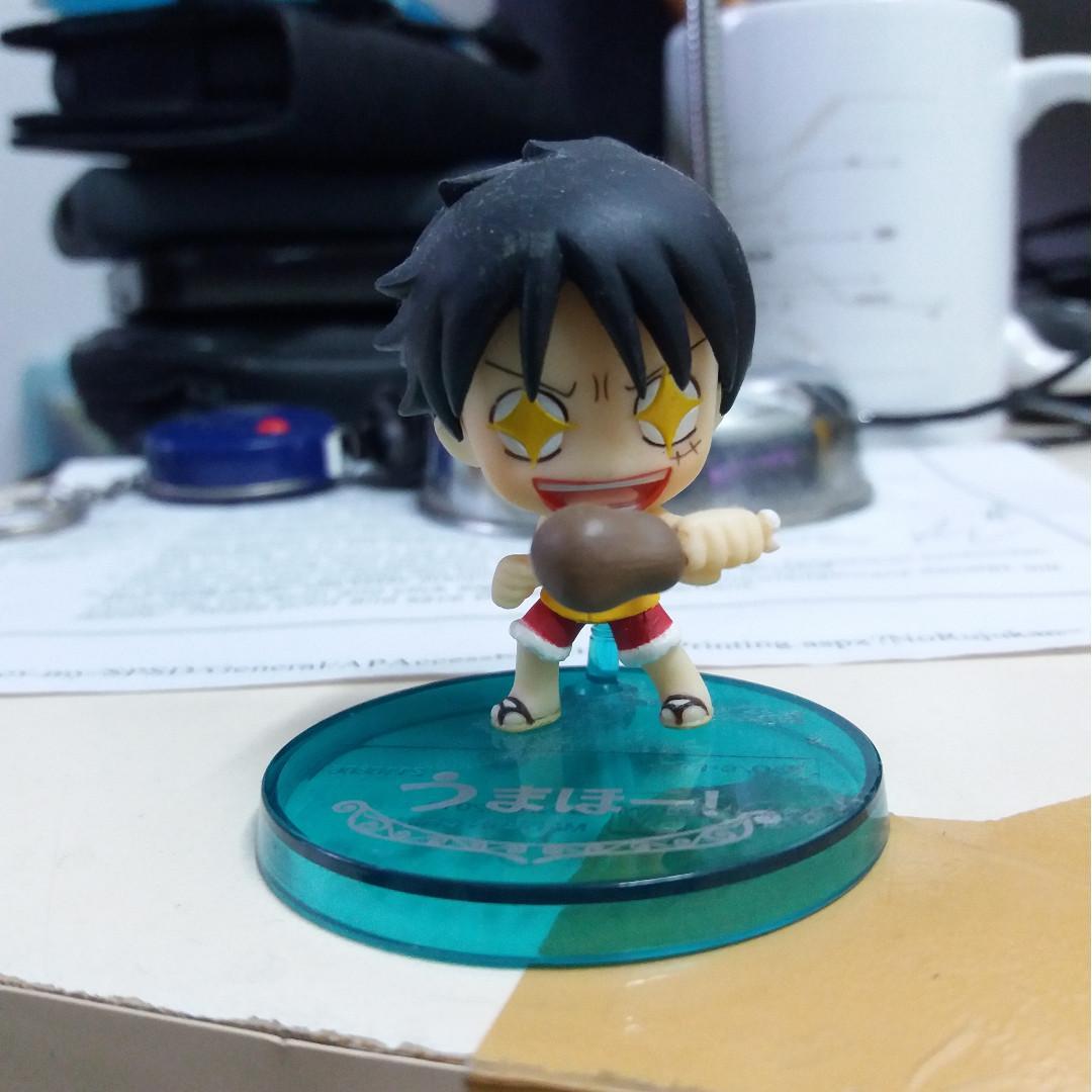 One Piece Cute Luffy Shining Eyes with Meat #CarouRaya