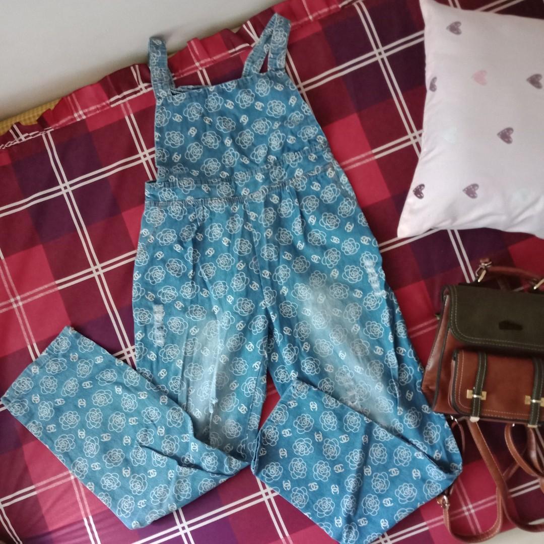 Overall jeans celana kodok motif #mauvivo