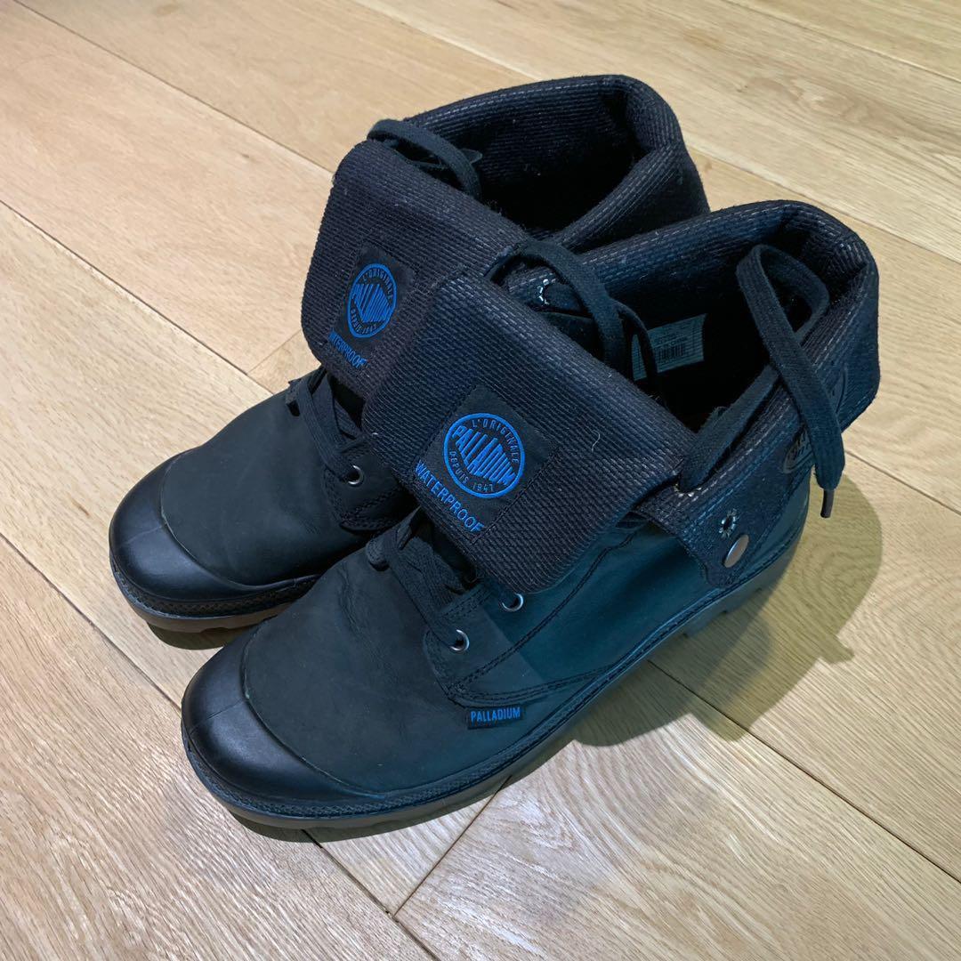 Palladium black waterproof boots UK 10