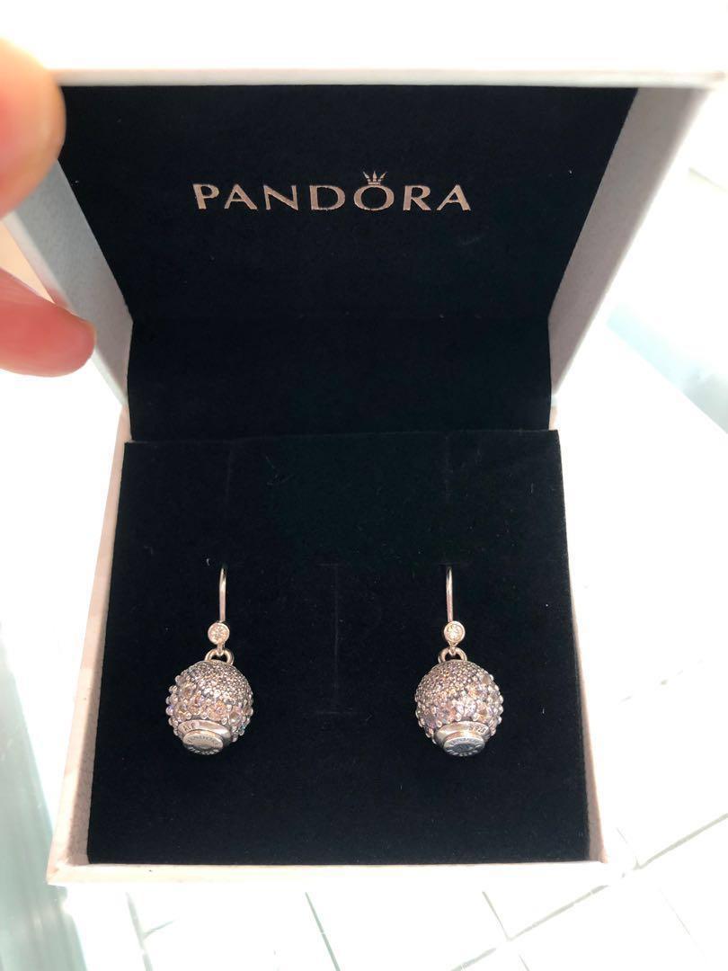 Pandora charm dangling sliver earring