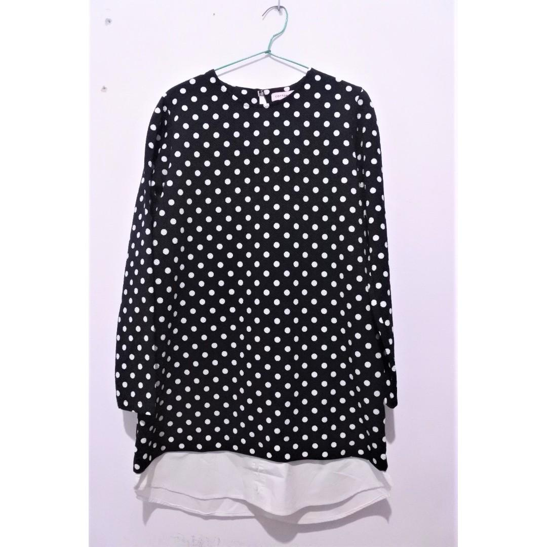 Polkadot Mid Dress Cotton Ink X Raisa