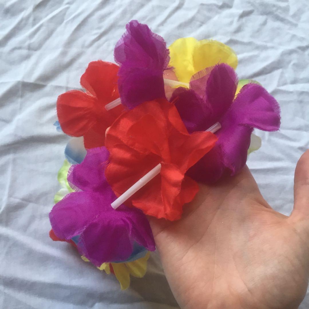 Rainbow floral lei