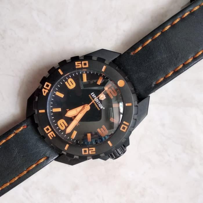 #ramadansale Jam Tangan Diver Expedition EXP 6341 MA Automatic - Black Orange